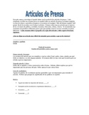 Write a news article in Spanish