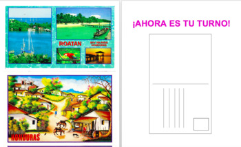 Write a postcard for Spanish or English class. Preterite Tense or any tense!