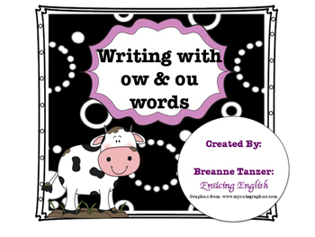 Write a story: writing center for ow / ou practice