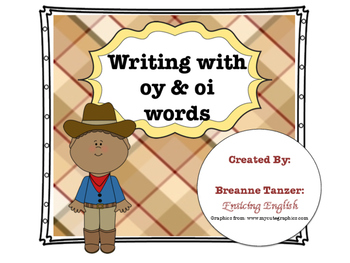 Write a story: writing center for oy/oi practice