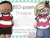 Write about Me: Bio-Poem freebie