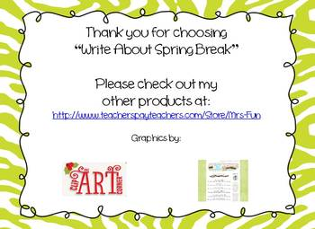 Write about Spring Break!