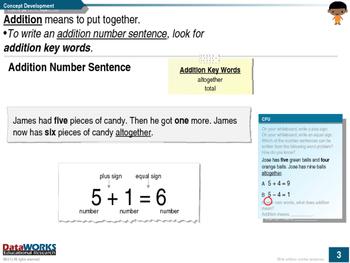 Write Addition Number Sentences