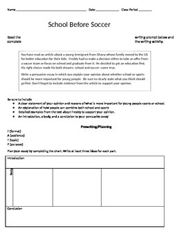 Write an Essay Based on the Article