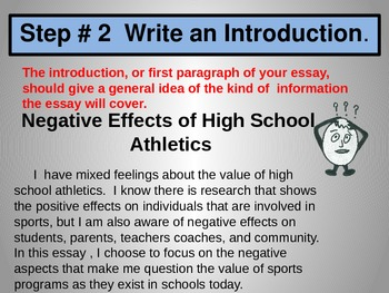Write an Essay Lesson 2