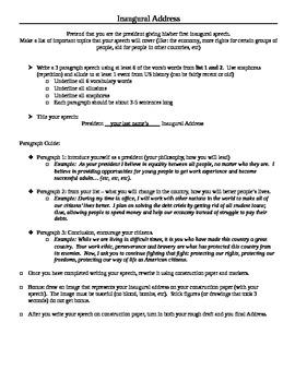 Write an Inaugural Address (with 2 Bonus Vocabulary Lists)