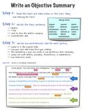 Write an Objective Summary