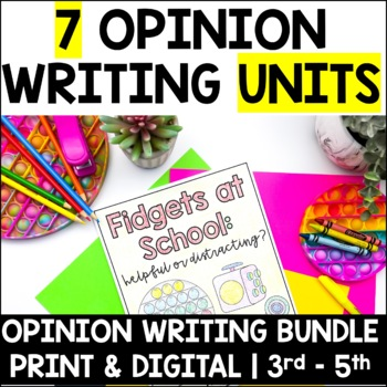 Write an Opinion Essay-Bundle Set-4 Real World Essay Topics for ...