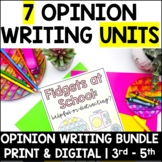 Write an Opinion Essay-Bundle Set-4 Real World Essay Topics for Upper Elementary