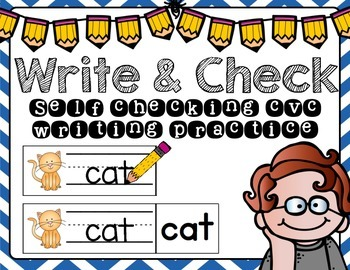 Write and Check: CVC writing practice