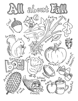 Write and Color Set - Fall: elementary