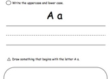 Write and Draw Alphabet Journal