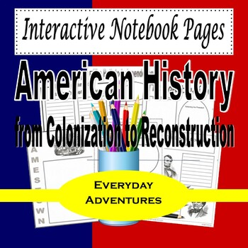 Write and Draw American History, Vol. 1 (Notebooking Pages)