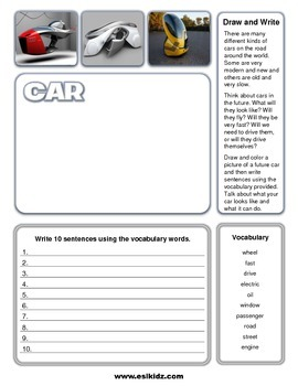 Write and Draw Cars