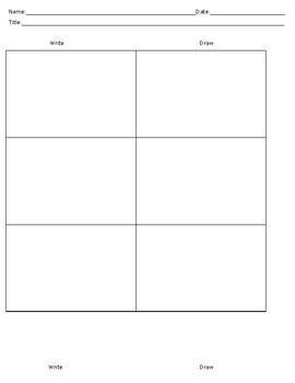 Write and Draw Graphic Organizer Mindmap