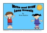 Write and Draw Long Vowels and Vowel Pairs Packet