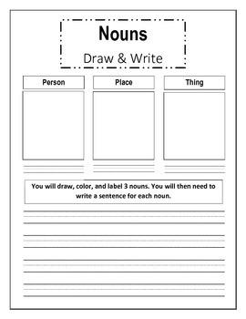 Draw and Write Nouns