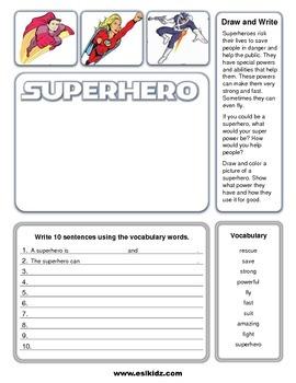 Write and Draw Superheroes