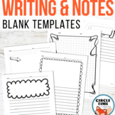 Lined Writing Paper with Picture Boxes, Blank Journaling Templates