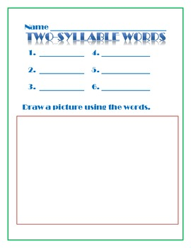 Write and Draw Word Wall Activities