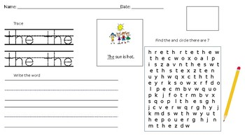 Write and Find Mixed Up Sight Words