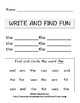 Literacy Write and Find Three Letter Words - 12 Worksheets