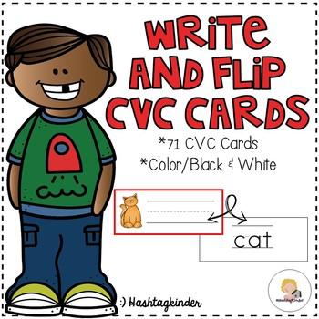 Write and Flip Cards - CVC Edition