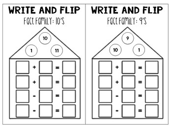 Write and Flip: Math Fact Families