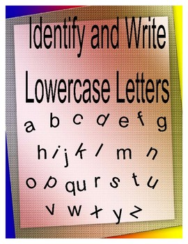 Write and Identify Lowercase Letters