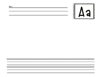 Write-and-Illustrate Picture Dictionary Template