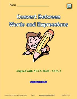 Write and Interpret Numerical Expressions Full Lesson Bundle - 5.OA.2