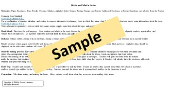 Write and Mail a Letter PK-1