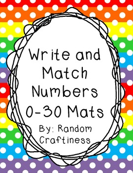 Write and Match Number 0-30 Mats