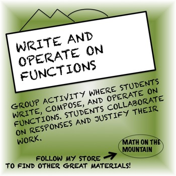 Write and Operate on Functions