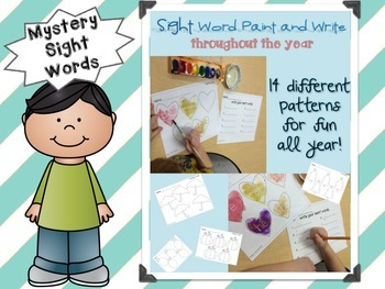 Write and Paint Mystery Sight Words All Year Long