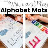 Alphabet Play Dough Mats | Write and Play | Preschool
