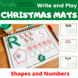 Write and Play Christmas Mats - Shapes and Numbers - Play