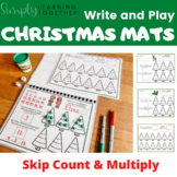 Write and Play Christmas Mats - Skip Count and Multiply -