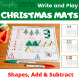 Write and Play Christmas - Shapes, Adding, & Subtracting -