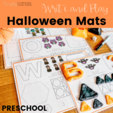 Preschool Write and Play: Halloween * Shapes and Numbers *