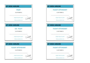 Write and Play Package - Airline theme