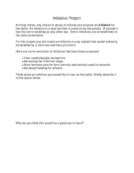 Write and Promote a Ballot Initiative