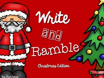 Write and Ramble - Math and Literacy Write the Room (Christmas Edition)