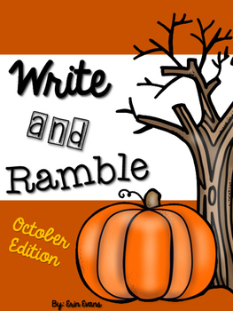 Write and Ramble - Math and Literacy Write the Room (Octob