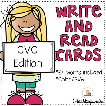 Write and Read Cards - CVC Edition