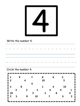 Write and Recognize the Numbers 1-10