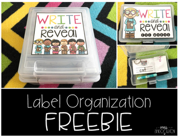 Write and Reveal Label Organization {freebie}