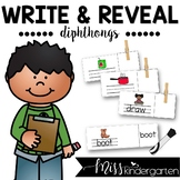 Word Work Diphthongs Write and Reveal