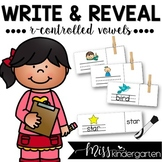 Word Work R-Controlled Vowels Write and Reveal