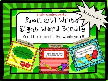 Write and Roll Sight Words Bundle